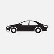 Car Icon, car silhouette. Isolated on white background, vector illustration EPS 10