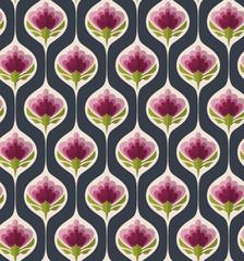 Fototapetaseamless vintage floral pattern