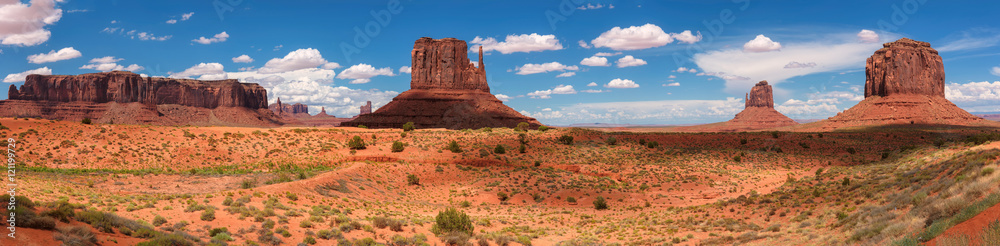 Fototapety, obrazy: Classic western panoramic landscape in Monument Valley, Arizona