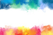 Colorful watercolor abstract borders