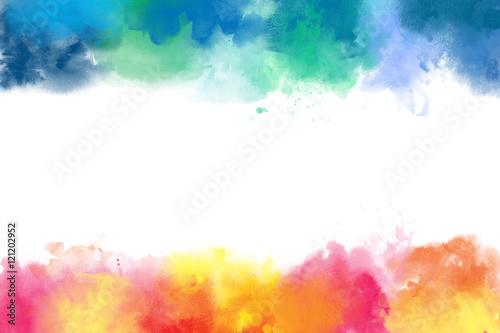 Zdjęcie XXL Kolorowe akwarele streszczenie granic