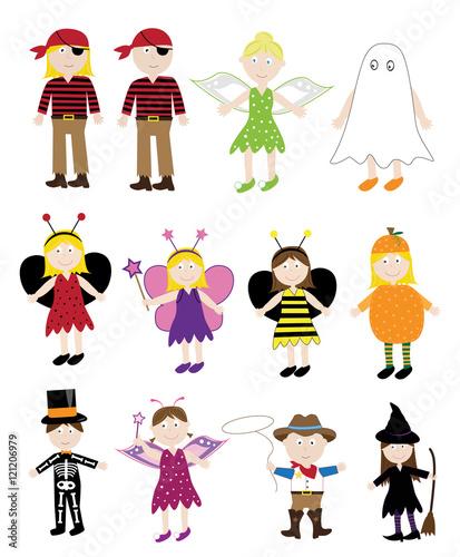 Fototapeta Halloween Costumes