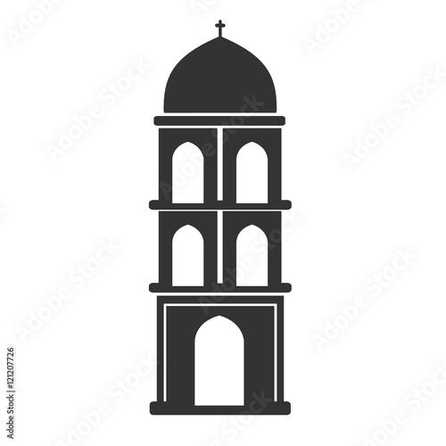 Vector architecture building symbol, historical building, black icon of simple c Fototapet