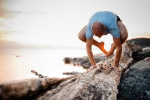 Handstand Yoga Pose By Man On ...