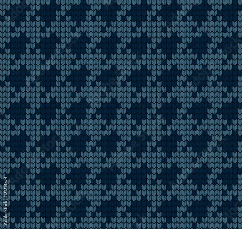 Photo  knitted vector seamless pattern hounds-tooth