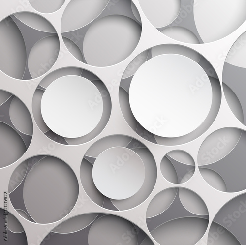 Naklejka dekoracyjna Background of circles with white frame for text