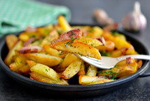 Young Fried Potatoes With Baco...