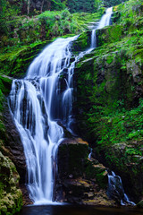 Fototapeta Kamienczyk Waterfall in Karkonosze National Park in Poland Sudety Mountains near Szklarska Poreba town.