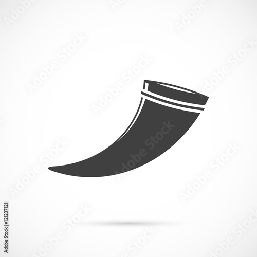 Drinking horn icon Wall mural