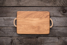 Chopping Board On Rustic Table