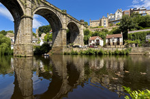 The Railway Viaduct Above The River Nidd, Knaresborough, North Yorkshire During Early Spring