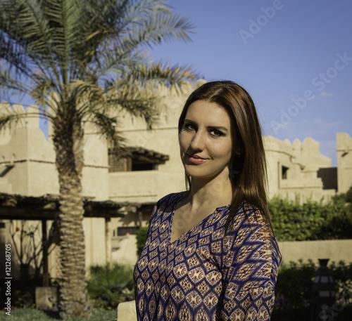 Photo  Anna in a Desert Oasis