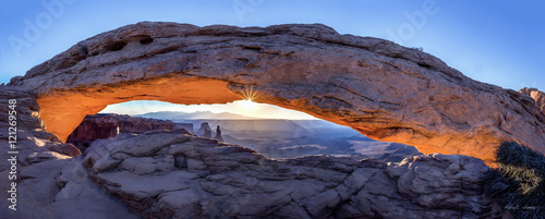 Printed kitchen splashbacks Eggplant Mesa Arch Sunrise