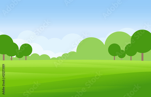Recess Fitting Blue sky Green Landscape Vector