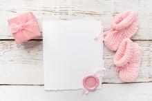 Baby Girl Clothes, Blank Card ...