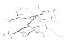 Cracks In White Surface Of Floor