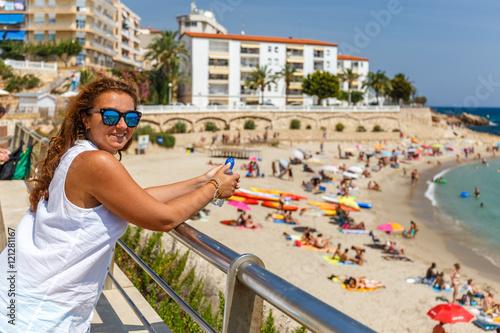 Foto op Canvas Barcelona Coastal spanish city of L'Ametlla de Mar