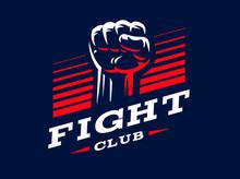 Fist Emblem Illustration On Da...