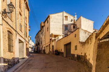 Fototapeta na wymiar Mountain town of Tivissa in the morning, Spain