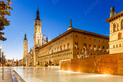 Zaragoza in summer, Spain