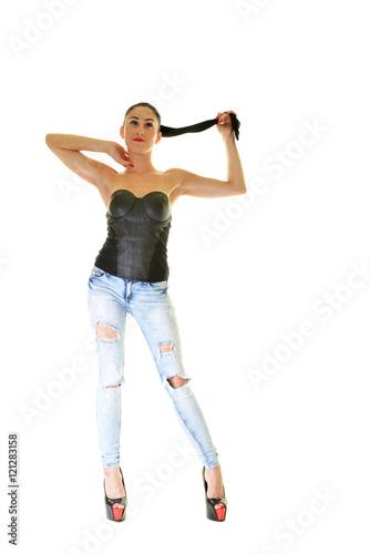 Photo  Woman with beautiful long hair