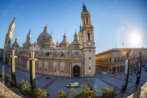 Foto op Plexiglas Kiev Zaragoza in summer, Spain