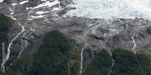 Poster Glaciers Aerial view of a glacier, Lake Argentino, Los Glaciares National