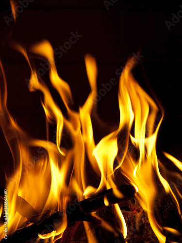 Poster Flamme Burning Fire