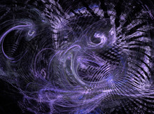 Abstract Purple Light Chaos Fractal