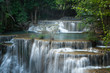 Beautiful and very nice waterfall for relaxation, Erawan waterfall loacated Kanchanaburi Province , Thailand