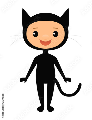 Child in a black cat costume  sc 1 st  Adobe Stock & Child in a black cat costume - Buy this stock vector and explore ...