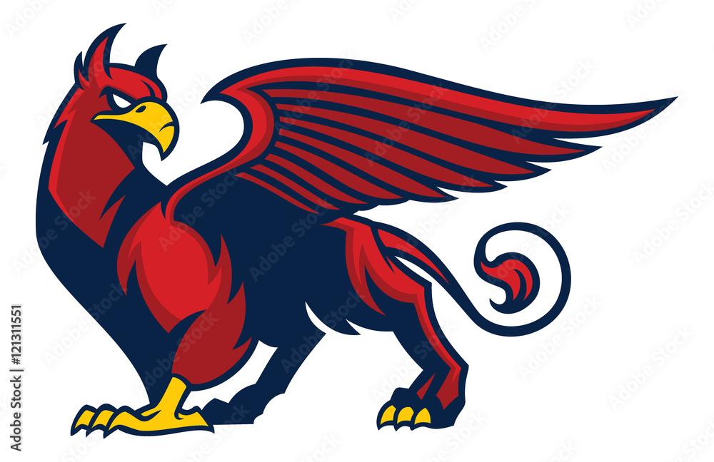 Fototapeta griffin creature mascot