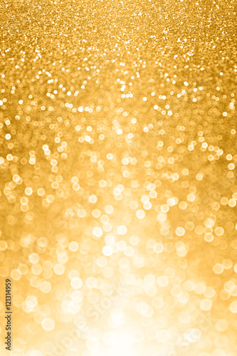 Glitzy gold glitter bokeh bling background or invite Canvas Print