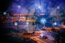 Smart Factory And Wireless Communication Network, Internet Of Things, Industry4.0, Abstract Image Visual