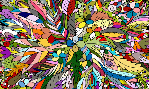 Foto auf AluDibond Klassische Abstraktion Tropical floral background for your design