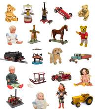 Altes Antikes Spielzeug, Puppe...