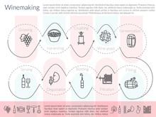 Line Winemaking Infographic
