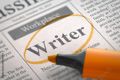 Writer Job Vacancy. 3D. Tapéta, Fotótapéta
