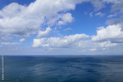 Atlantic ocean and blue cloudy sky, Aran islands Fototapet