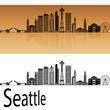 Seattle V2 skyline in orange