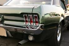 Classic Retro  Vintage Green Car