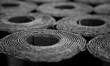 canvas print picture - Roofing felt. Rolls of Bitumen