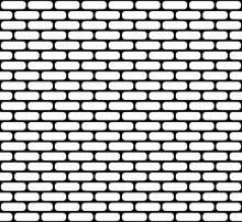 White Brick Wall Seamless Vector Texture With Rounded Corners