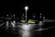 canvas print picture - Parkplatz in der Nacht