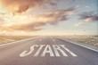 Leinwandbild Motiv Start Point