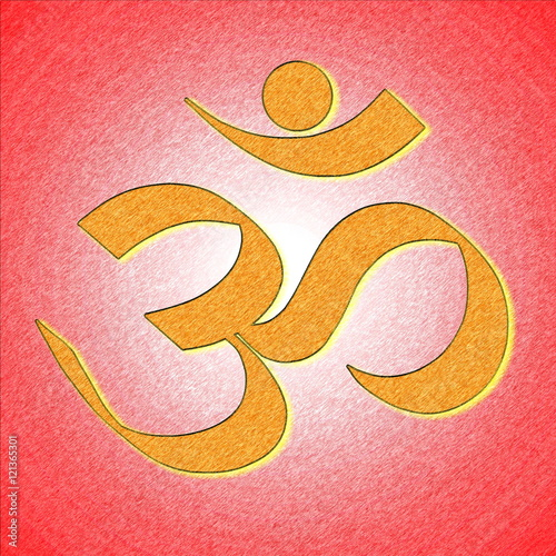 om or aum hinduism symbol - Buy this stock illustration and