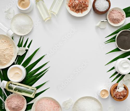 Fotografie, Obraz  aromatherapy theme , handmade cosmetic. space for text
