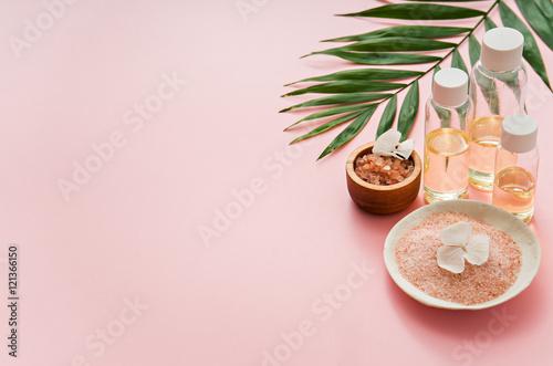 Fényképezés  aromatherapy theme , handmade cosmetic. space for text