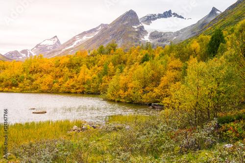 Foto auf Leinwand Rotglühen Landscape, Sunnmore Alps - Norway