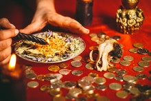 A Witch Holds A Ritual For Money